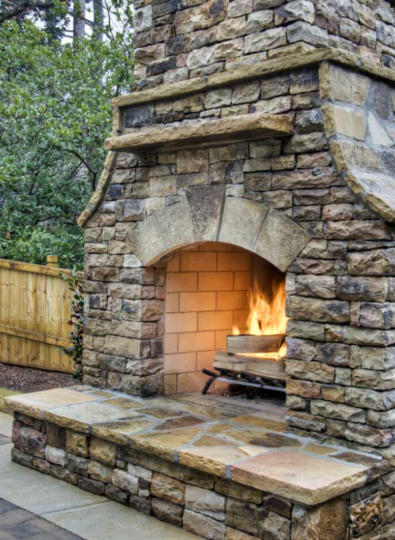 Stacked Fireplace from HGTV