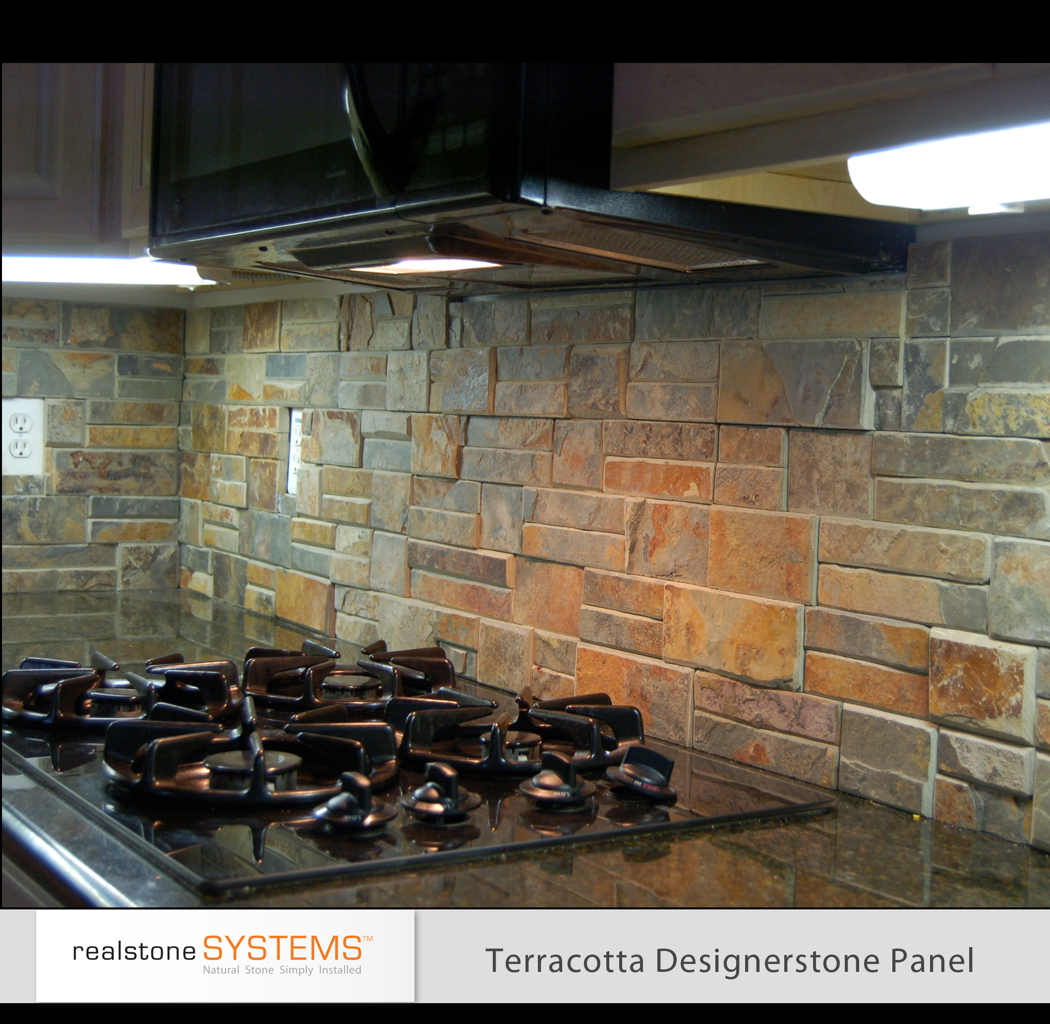 Kitchen Backsplash Rock: Realstone Veneer Panels
