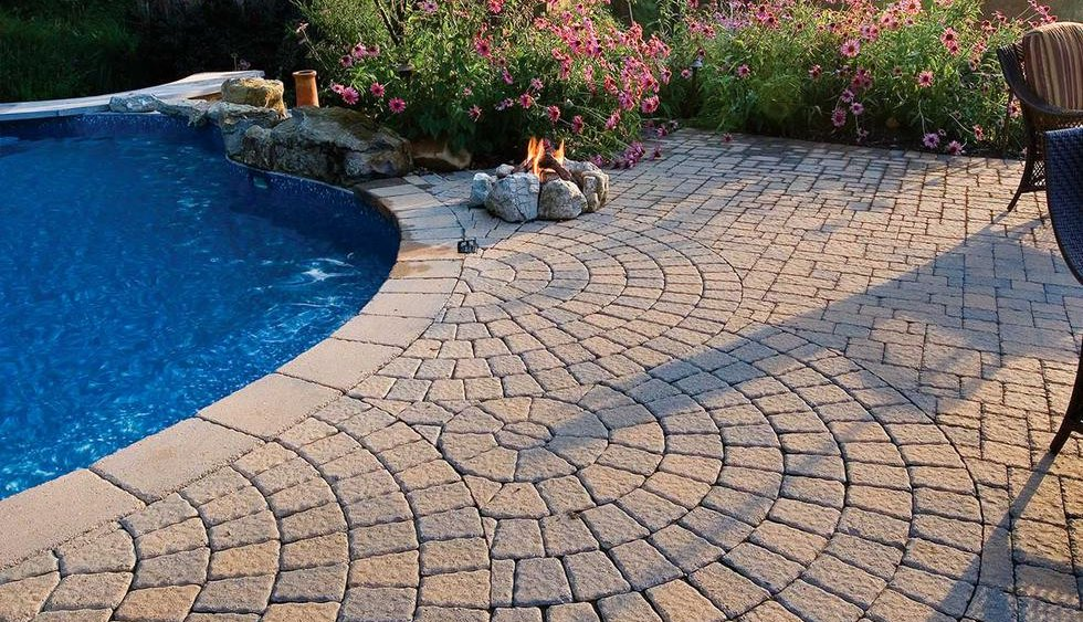 Pool Paver Ideas pool decking design options Techo Bloc Inca Paver Patio Pool Deck Pavers