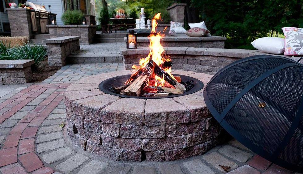 pre-made outdoor fire pit easy to assemble