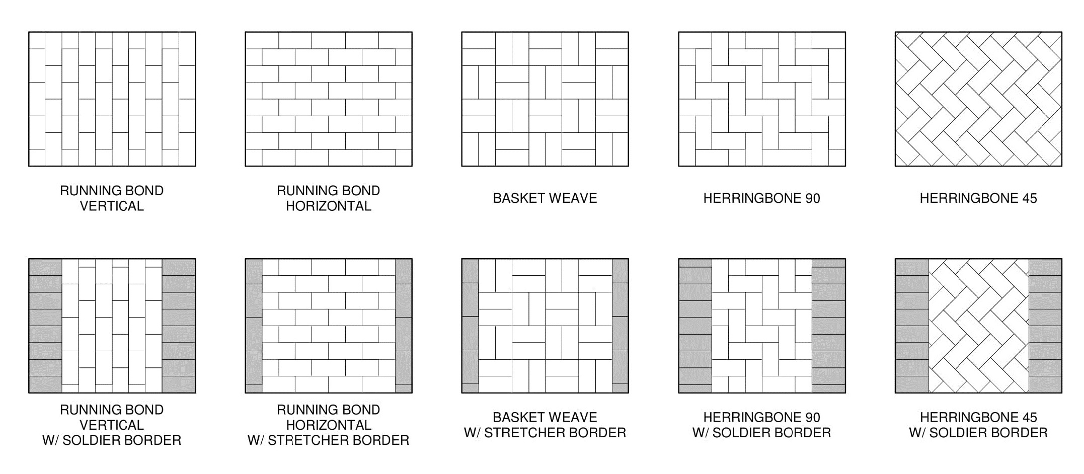 Brick Pavers Layout Patterns