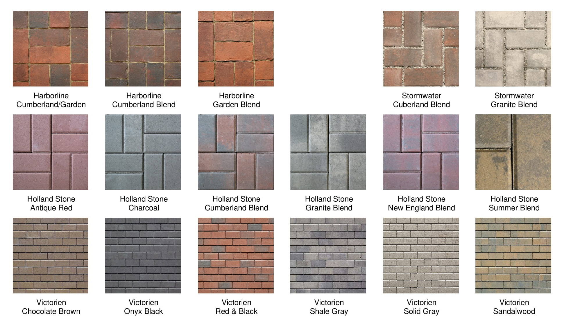 Brick Pavers Colors